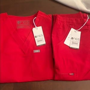 NWT Limited Ed Red Scrub Set